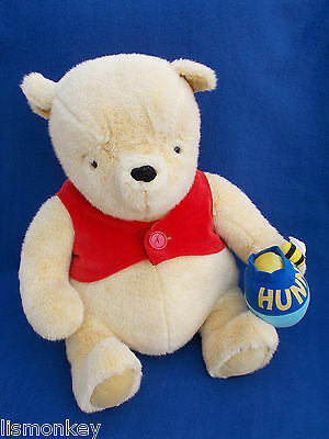 Classic Winnie the Pooh Large Soft Plush Cuddly Toy Teddy with Hunny Pot