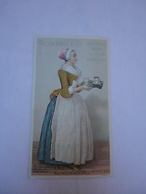 Antique Walter Baker & Co. Breakfast Cocoa Chocolate Trade Card