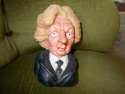 1984 Spitting Image Production Of Margaret Thatcher-Squeaky Rubber Head Bust