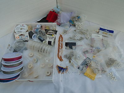 Large Quantity Items For Beading Wire Nymo Findings Clasps Charms, Etc.