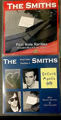 """Rare The Smiths / Morrissey Special Edition CDs """"Post Note Rarities 1 & 2""""+ Pins"""