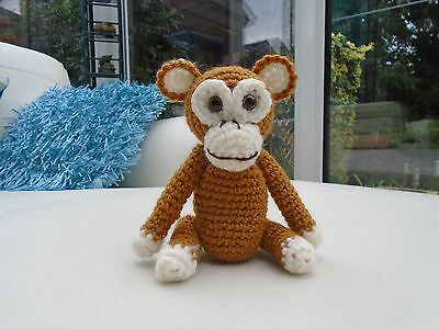 Vintage Style Hand Knitted / Crocheted Cheeky Monkey