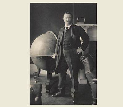 President Theodore Teddy Roosevelt PHOTO 1903 Globe Portrait White House Office
