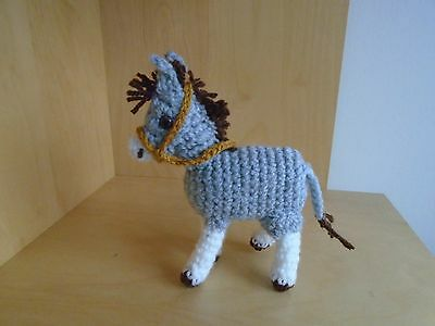 Vintage Style Hand Crocheted / Knitted Donkey