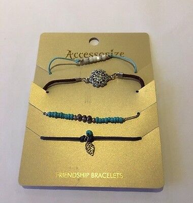 Selection of 4 'Accessorize' Friendship Bracelets