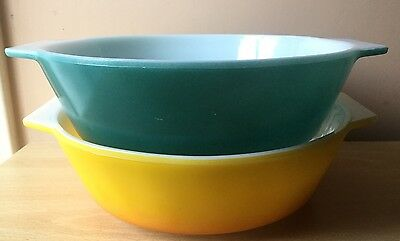 JAJ Rocco and Teal 2001 Casserole Dishes Pyrex