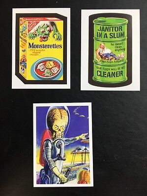 2008 LOST Wacky Packages MARS ATTACKS NORMAN SAUNDERS Card Set