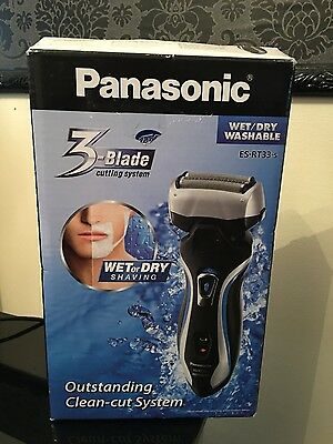 Panasonic ES-RT33 Cordless Rechargeable Electric 3-Blade Shaver Wet / Dry NEW