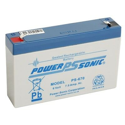 2 X Power Sonic PS670 6V 7AH VRLA Sealed Rechargeable Battery MICROCAT BAIT BOAT