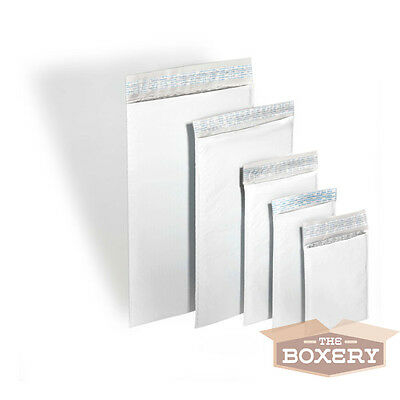 250 #000 Poly Bubble Padded Envelopes Mailers 4 x 8 from The Boxery