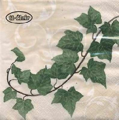 4 x Paper Napkins- Ivy -Ideal for Decoupage / Decopatch [1660913]