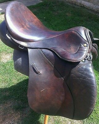 """Hunting Gp Jumping Eventing Saddle Leather 17 1/2"""""""