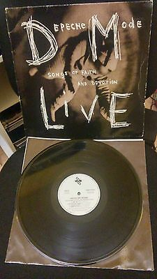 Depeche Mode Songs Of Faith And Devotion Live Lp Spain