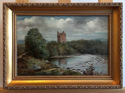 BARR 19th Century Signed Oil Painting on Canvas in Frame