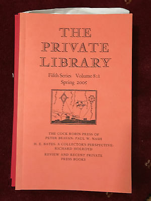 The Private Library 5th Series Vol.8:1 2005