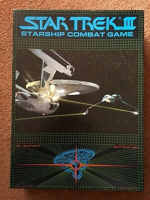 STAR TREK III Starship Combat Game 1984 FASA GAMES WORKSHOP