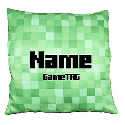 Pixel Cushion Covers - Personalised with Name, Initials and optional GameTAG