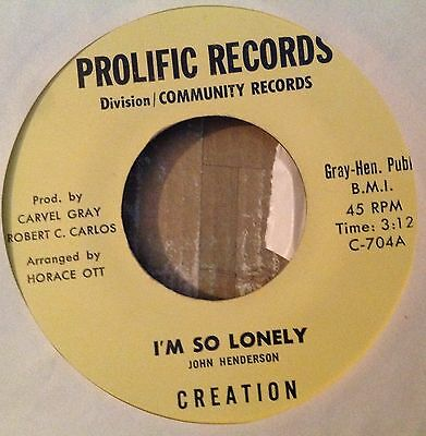CREATION - Something Tellin'Me - I'm So Lonely Rare Funk Soul 45