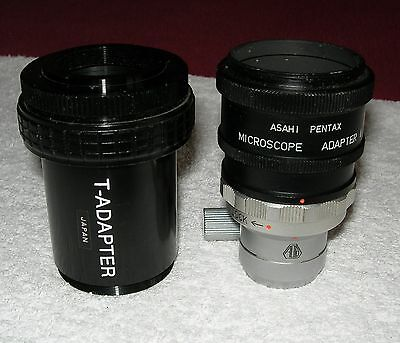 lot 2 tubes T-adapter/asahi pentax pour microscope