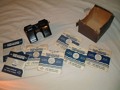 Old View Master by Sawyer. 1940s. + reels