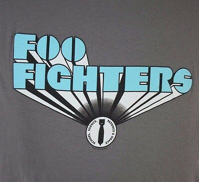 XL Foo Fighters Echoes Silence Patience Grace 2007 Tour Gray T-Shirt Bomb