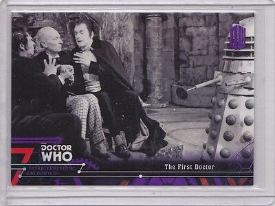 2016 Topps Doctor Who Encounters The First Doctor Purple /50