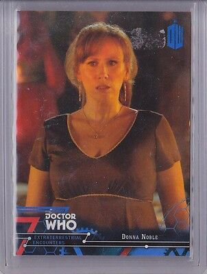 2016 Topps Doctor Who Encounters Donna Noble Blue /99