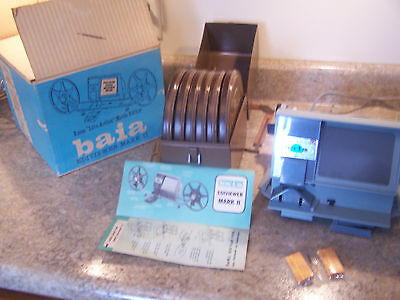 8mm baia EDIVIEWER MARK II, HARWOOD,8mm REEL AND CAN, Rochester, NY