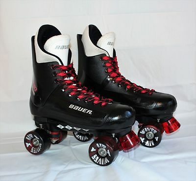 Bauer Turbo Quad Roller Skates UK 9 With Socks