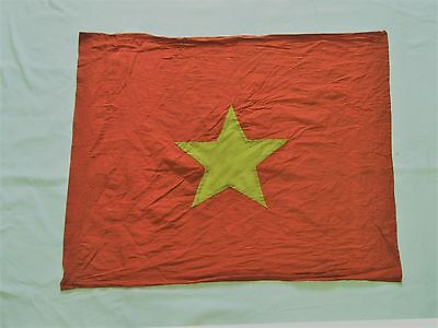 COMMUNIST flag , VC ,  red flag with YELLOW star , VIETNAM WAR FLAG