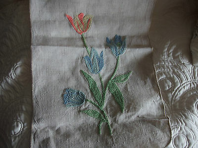vintage table runner cover embroidered