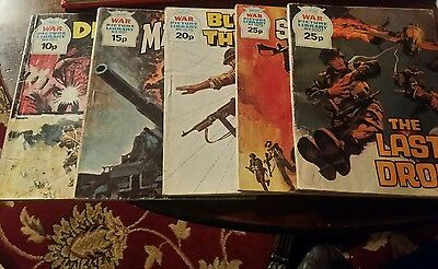 War picture library comics × 5 issues.