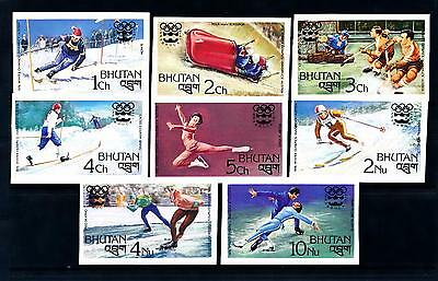 [55237] Bhutan 1976 Olympic games Skiing Icehockey Figure skating Imperf. MNH