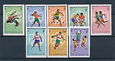 [55265] Maldives 1976 Olympic games Wrestling Athletics Volleyball Imperf. MNH