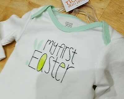 "Carter's Infant Two- Piece Outfit Says ""my First Easter"" Boy Or Girl 6 Months"