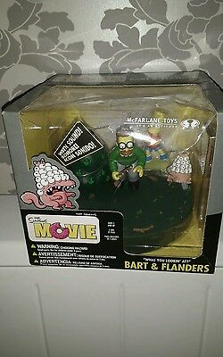 the Simpsons the Movie Action set Bart & Flanders with Sound Super Rare