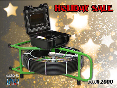 130 FOOT SEWER VIDEO PIPE DRAIN CLEANER INSPECTION CAMERA W/512hz SONDE SALE!!!