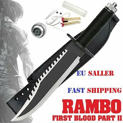 Couteau Rambo Part II First Blood Sang multi-function Bowie Knife Première 6mm