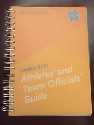 London 2012 Athletes' And Team Officials Guide - Brand New Very Rare