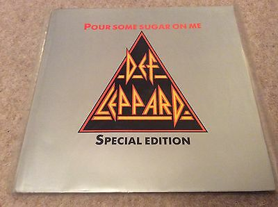 Def Leppard. Pour Some Sugar On Me. Special Edition Triangle Picture Disc. Mint.