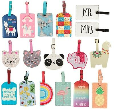 Floral Travel Luggage Tag Suitcase Label ID Address  Holiday Tags