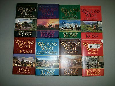 Wagons West Series lot of 8 Books by Dana Fuller Ross