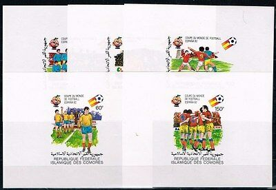 Comores.1982 World Cup.Soccer.Football.Fussbal.5 S/S.Imperfor.MNH.**