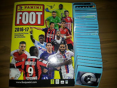 PANINI FOOT 2017 ALBUM VIDE + SET COMPLET 542 STICKERS à coller SOIT 942 NUMEROS