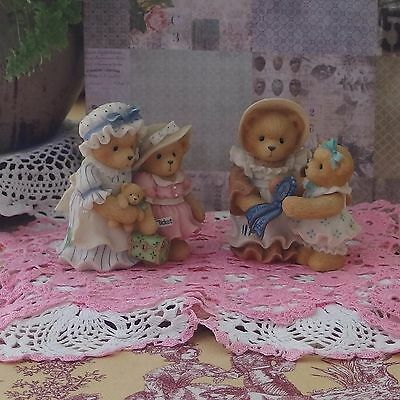 Two Cherished Teddies pieces of Mother and Daughter, perfect condition NO BOX