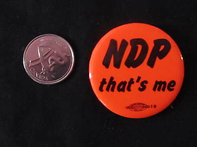 New Democratic Party of Canada Slogan Button #1 *WOW*