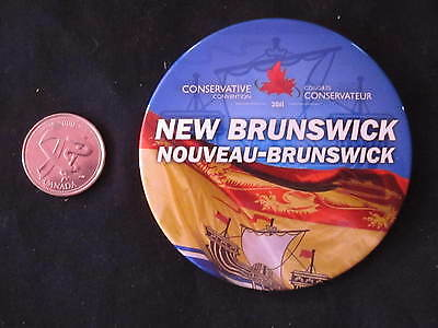 2011 Conservative Party of Canada Convention Button New Brunswick *WOW*