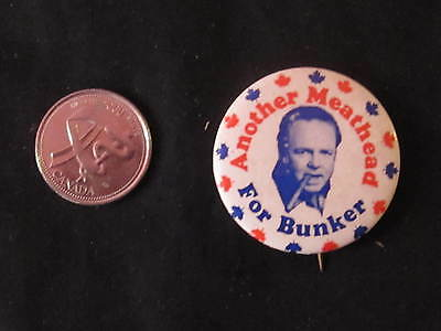 Archie Bunker for Prime Minister Novelty Button *WOW*