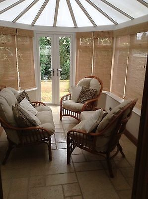 Conservatory furniture with footstool to match