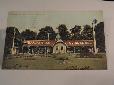 2 Silver Lake Park, Akron and Cuyahoga Falls, Ohio Postcards